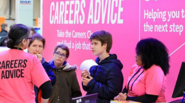 young people receiving careers advice