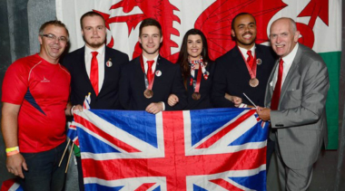 SquadUK with medals in Sao Paulo