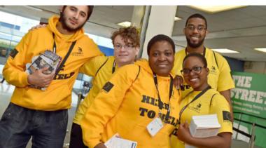 volunteers at worldskills uk
