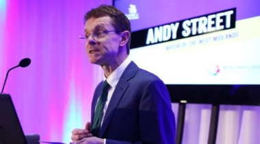 Andy Street presenting