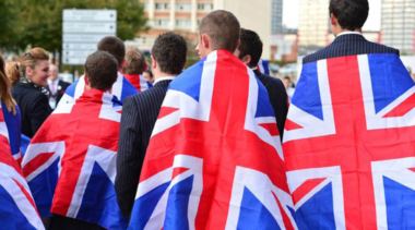 teamuk draped in union jack