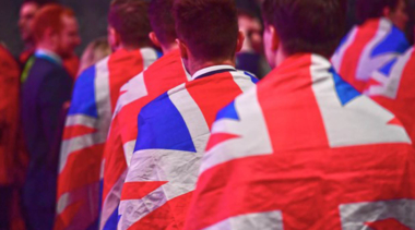 teamuk in a line with union jack