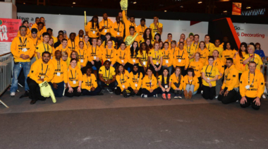 volunteers at worldskills uk live