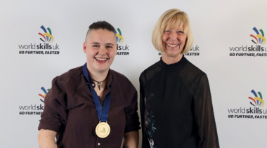 Photo of Ashleigh, Squad UK Cooking competitor with her gold medal