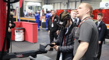 young student using vr