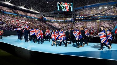 Photo of WorldSKills UK team at opening ceremony WorldSkills Kazan 2019