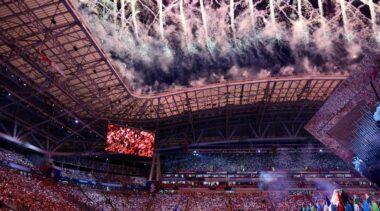 Photo of opening ceremony WorldSkills Kazan 2019
