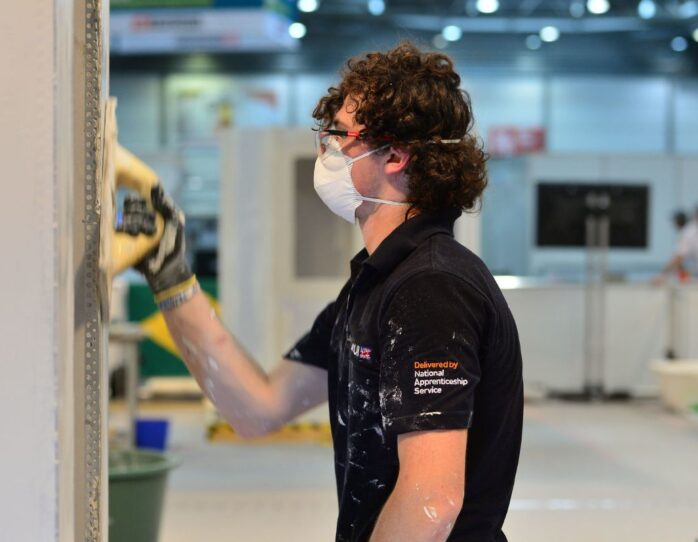Photo of competitor in Plastering and Drywall at WorldSkills Leipzig 2013