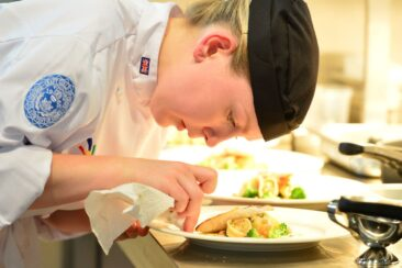 Photo of competitor in culinary arts at WorldSkills Leipzig 2013