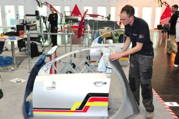 Photo of automotive competitor in WorldSKills Leipzig 2013