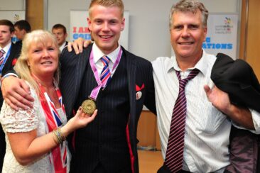 Photo of competitor with medal at WorldSkills Leipzig 2013