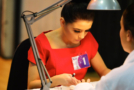 Young person competing in beauty therapy competition