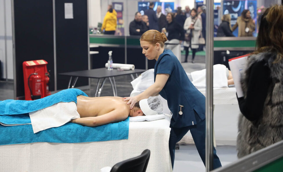 Young person competing in Beauty Therapy Practitioner competition