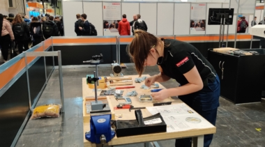 Young person competing in CNC Mining competition