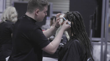 Young person competing in Commercial Make Up competition