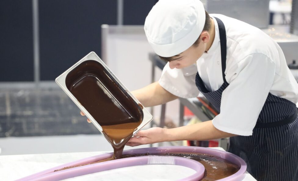 Young person competing in Confectionery & Patisserie competition
