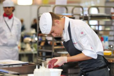 Photo of competitor in butchery WorldSKills London 2011