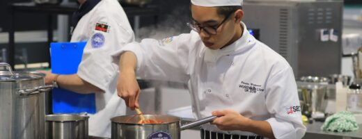 Young person competing in Culinary Arts competition