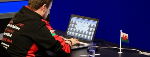 Young person competing in Cyber security competition