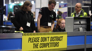 Young people competing in Digital Media Production competition