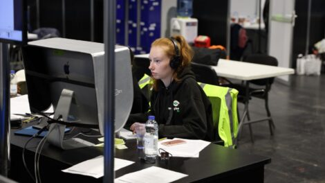 Young person competing in Digital Media Production competition