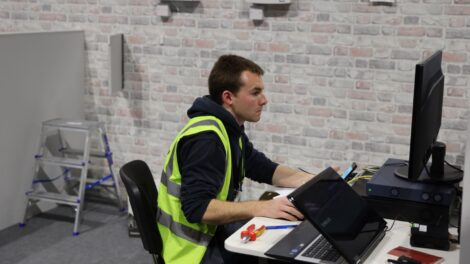 Young person competing in Electronic Security Systems competition