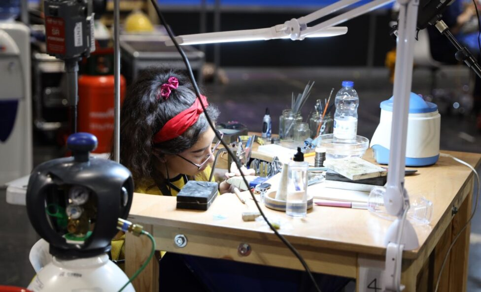 Young person competing in Fine Jewellery Making competition