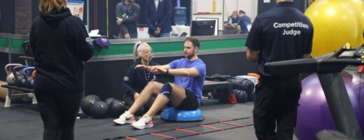 Young person competing in Fitness Trainer Personal Trainer competition