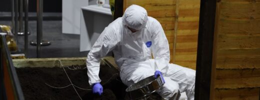 Young person competing in Forensic Science competition