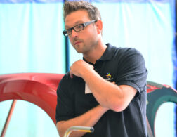 Photo of Frazer Minskip at a WorldSkills competition