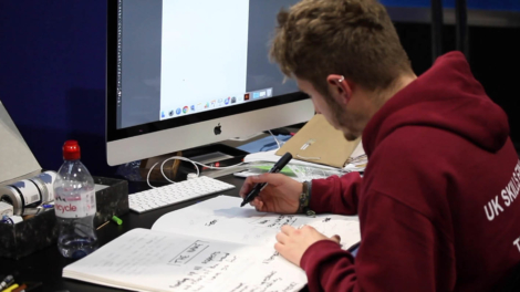 Young person competing in Graphic Design competition