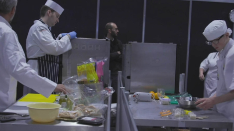 Young people competing in foundation skills Catering competition