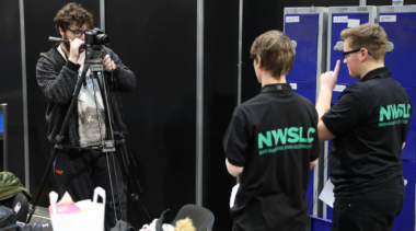 Young people competing in foundation skills, media competition
