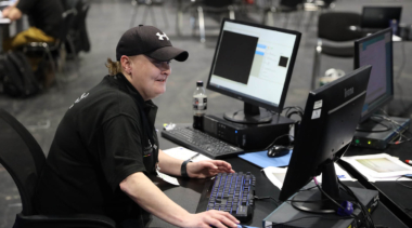 Photo of young person competing in IT Software Solutions for Business Foundation Skills