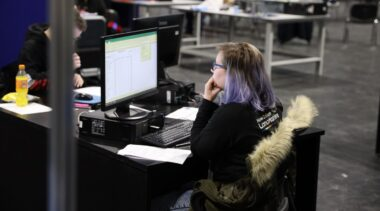 Young person competing in IT Software Solutions for Business & IT Support Technician competition