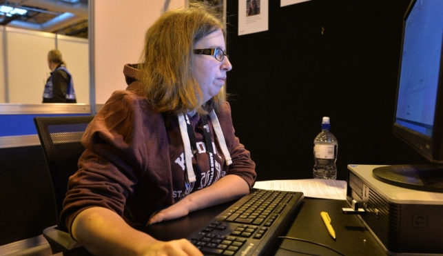 Young person competing in IT software solutions for business competition