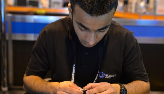 Young person competing in IT support Technician competition