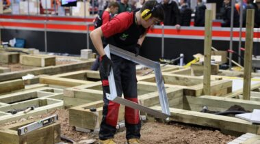 Young person competing in Landscape Gardening competition