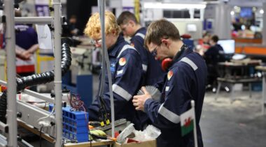 Young people competing in Manufacturing Team Challenge competition