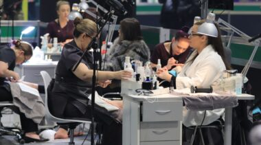 Young person competing in Nail Technician competition