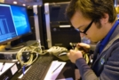 Young person competing in Network Infrastructure Technician competition