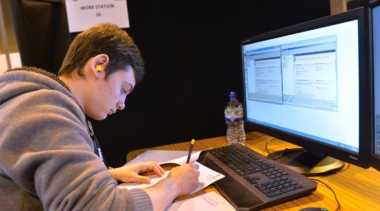 Young person competing in Network Systems Administrator competition