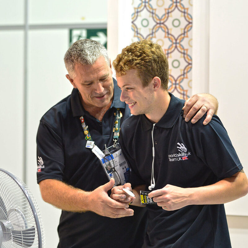 Photo of Pete Walters MBE at a WorldSkills competition