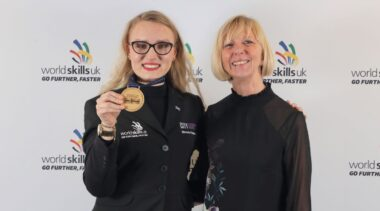 Photo of WorldSkills UK winner in Restaurant Services