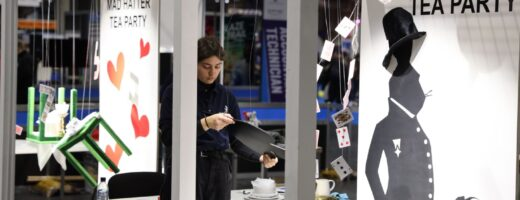 Young person competing in Visual Merchandising competition