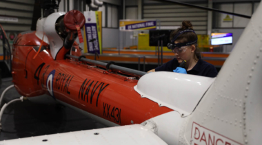 Young person competing in Aeronautical Engineering Mechanical competition
