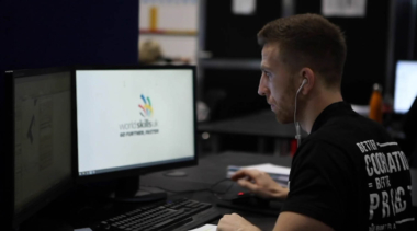 Young person competing in Building Information Modelling competition