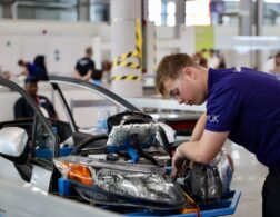 Photo of Declan competing internationally in the Automobile Technology Competition