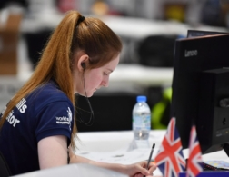 WorldSkills UK competitor writing