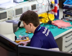Photo of Thomas competing in Electronics Competition
